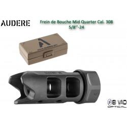 Frein de bouche AUDERE Mid Quarter noir Cal.308 - 5/8x24