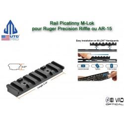 UTG - Rail Picatinny pour garde main M-Lok Black - Ruger Precision Rifle ou AR-15